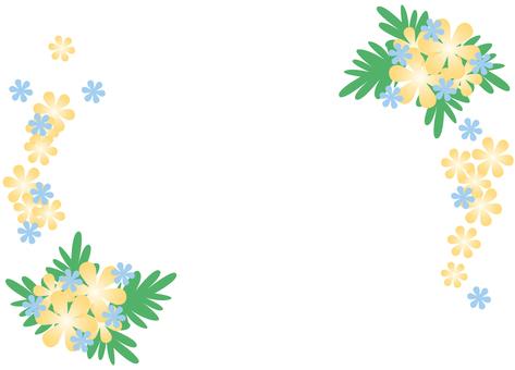 Yellow flower frame