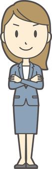 Blue suit female -368 - whole body