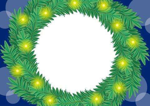 Christmas frame material A