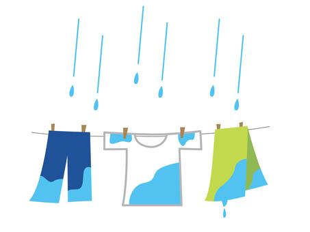 洗濯物 雨の日 梅雨