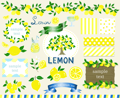 Lemon material set frame