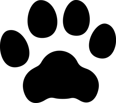 Canine footprint silhouette