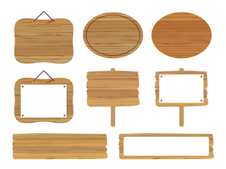 Wooden sign set