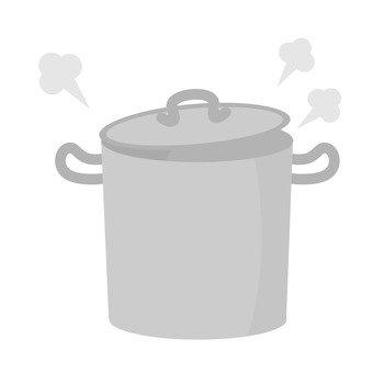 Boiling soda saucepan