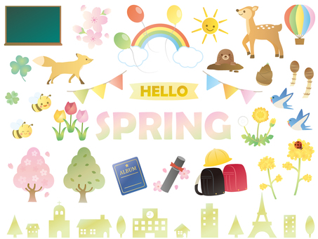 Spring illustration material collection 2