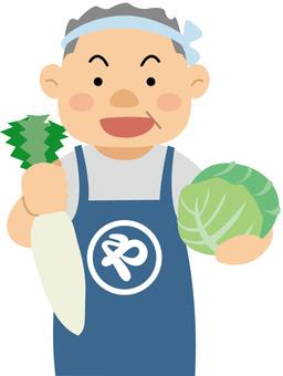 Shop Street Greengrocer illustration