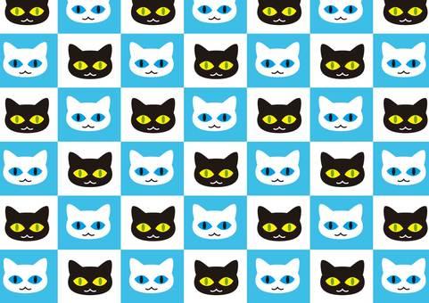 Cat pattern 4 blue