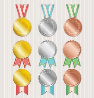 메달의 그림 세트