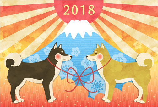2018 New Year card material 3
