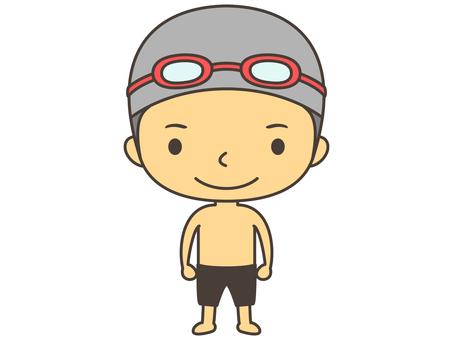 Swimming person C1