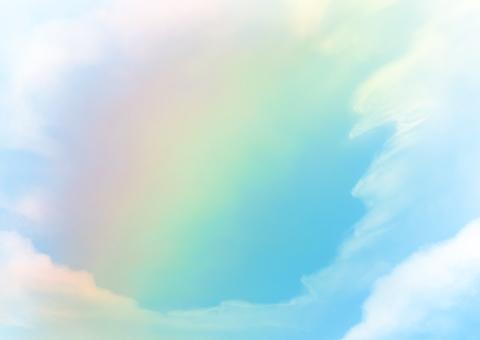 무지개 빛깔의 하늘