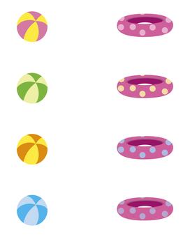 沙灘球浮動輪