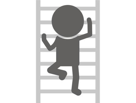 Stickman pictogram _ ladder