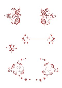 Modern ornaments (red)