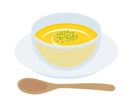 Soup cold pumpkin