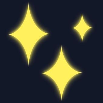 Luminous glitter 1 yellow