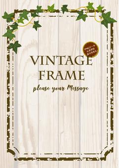 Vintage grain frame (white)