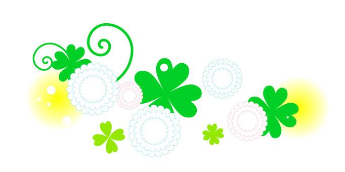 White clover clover illustration