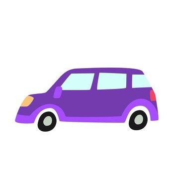 Horizontal purple car