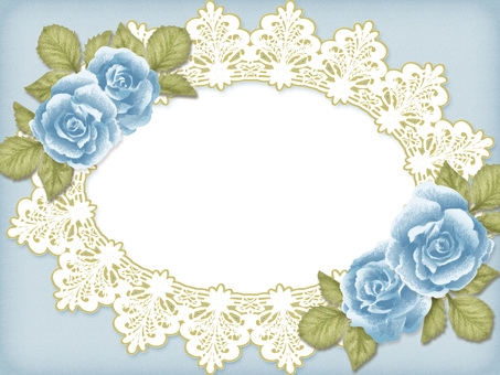 Antique style rose and lace frame 1