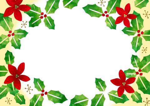 聖誕冬青幀