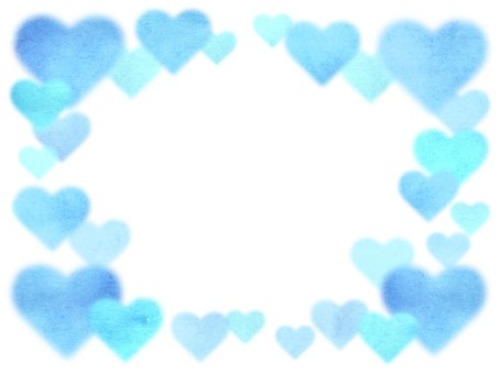 [Background / Frame] Illustration of watercolor heart
