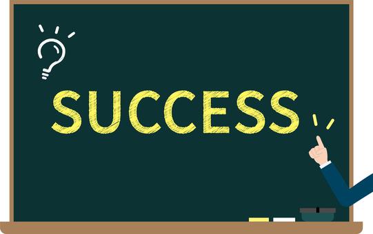 Success blackboard image