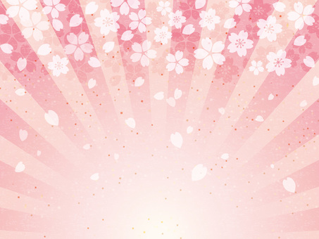 Celebration Sakura Japanese paper radiation background 02