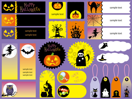 Halloween 10 index set