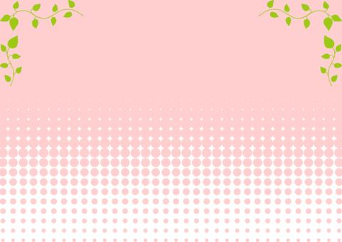 Leaf frame dot background
