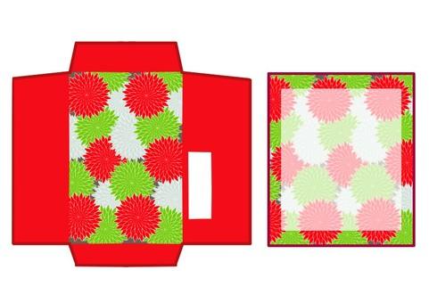 Pochi bag Japanese pattern red