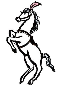 レトロ風サーカスの馬_1