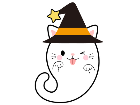 【Halloween】 Haunted White Cat