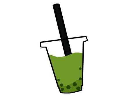 Tapioca green tea milk