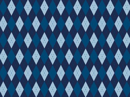 Large Argyle check blue