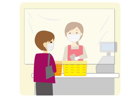 Cash register infection prevention sheet