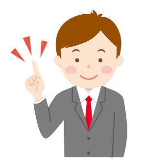 Suit male _ finger insertion 01