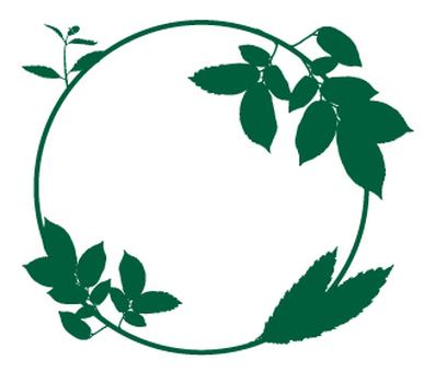 Green _ leaves _ circle pattern _ dark green