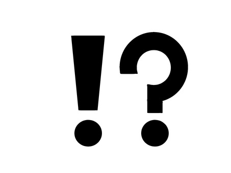 Exclamation mark and question mark
