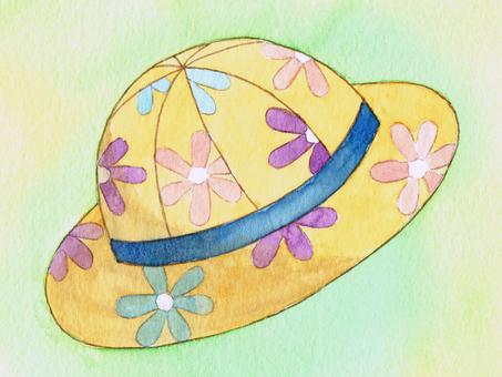 꽃 모양의 모자