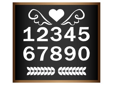 Number set black