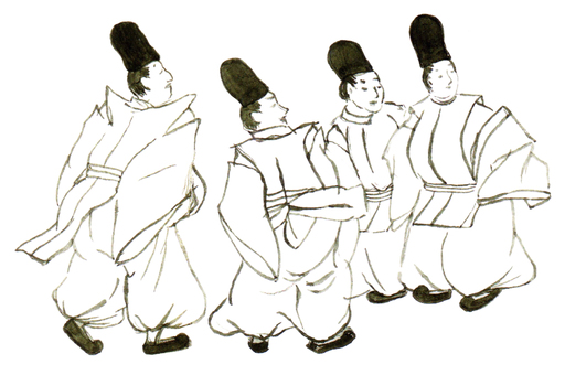 [Reproduction Wind] Four people of the Heian period no.3 no.3