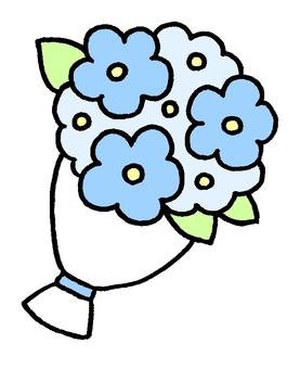 Festive blue bouquet