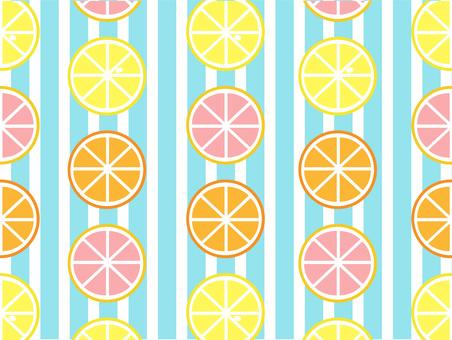 Citrus fruits and stripes (light blue)