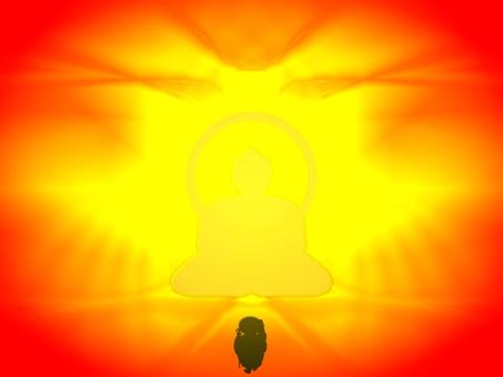 Buddha and monk E0264