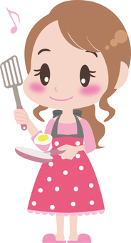 Female to cook