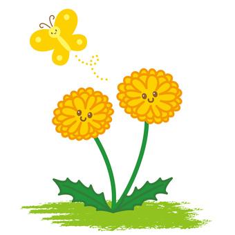 Dandelion butterfly character