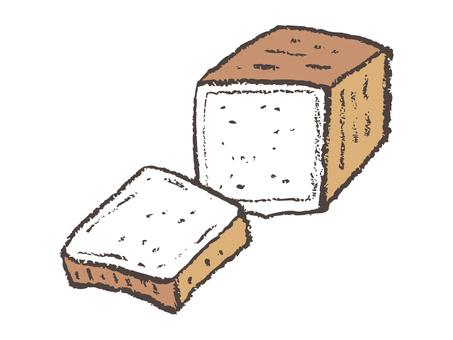 Square shaped bread