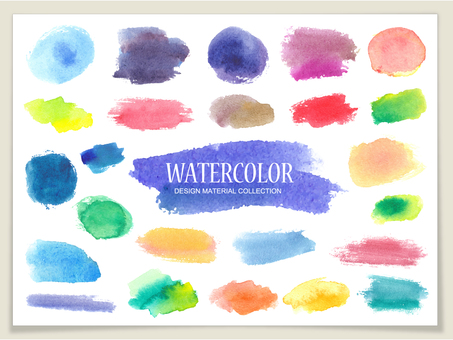 Texture set of watercolor paint