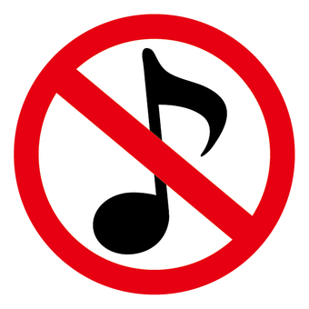 No sound Music notice NG note